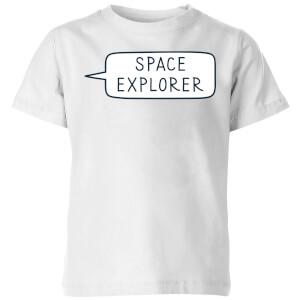 Space Explorer Kids' T-Shirt - White