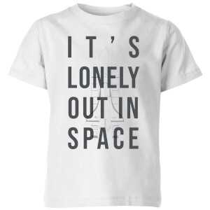It's Lonely Out In Space Kids' T-Shirt - White