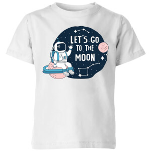 Let's Go To The Moon Kids' T-Shirt - White