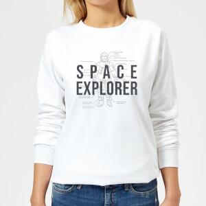 Space Explorer Schematic Women's Sweatshirt - White
