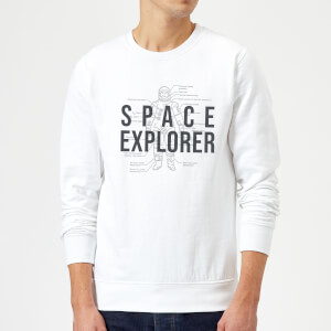 Space Explorer Schematic Sweatshirt - White