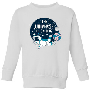 The Universe Is Calling Kids' Sweatshirt - White