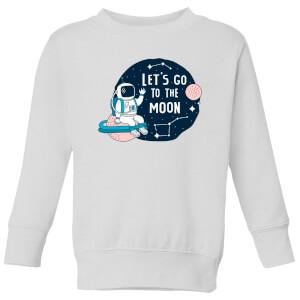Let's Go To The Moon Kids' Sweatshirt - White