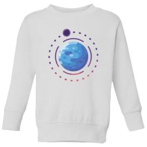 Planet Earth Kids' Sweatshirt - White