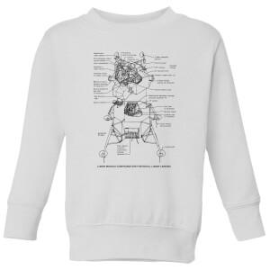 Lunar Schematic Kids' Sweatshirt - White