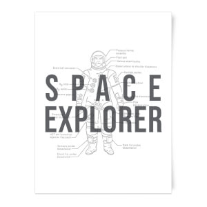 Space Explorer Schematic Art Print