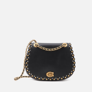 Coach Women's Scallop Rivets Parker Saddle Bag - Black