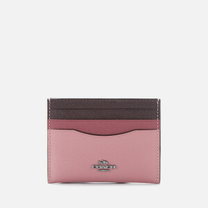 Coach Women's Colorblock Flat Card Case - True Pink Multi