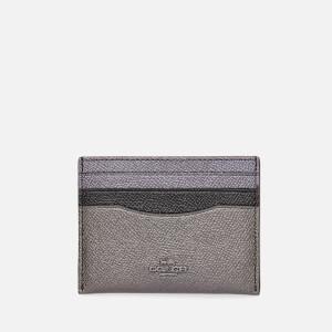 Coach Women's Metallic Colorblock Flat Card Case - Purple