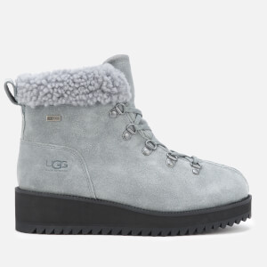 UGG Women's Birch Lace up Shearling Hiker Boots - Geyser