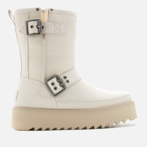 UGG Women's Classic Rebel Biker Short Boots - Bone