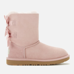 UGG Kids' Bailey Bow II Lace Back Sheepskin Boots - Pink Crystal