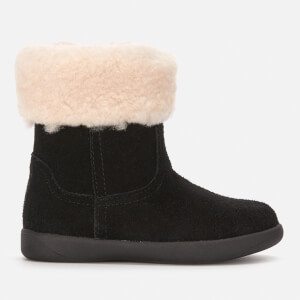 UGG Toddlers' Jorie II Fluffy Top Sheepskin Boots - Black
