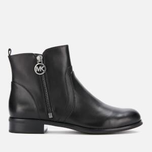 MICHAEL MICHAEL KORS Women's Karsyn Leather Flat Ankle Boots - Black