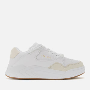 Lacoste Men's Court Slam Leather Trainers - White/Gum