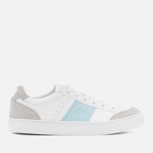 Lacoste Women's Courtline 319 1 Leather Trainers - White/Light Blue
