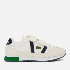 Lacoste Kids' Partner Retro Trainers - Off White/Navy