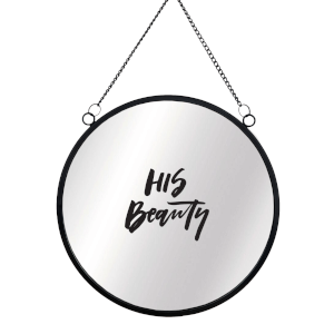 His Beauty Round Mirror & Vinyl Sticker
