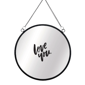 Love You Round Mirror & Vinyl Sticker