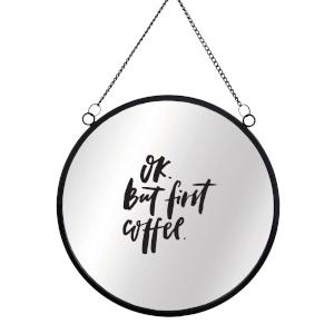 Ok But First Coffee Round Mirror & Vinyl Sticker