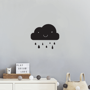 Cloud And Rain Wall Decal