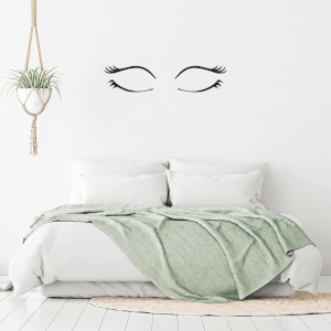 Closed Eyes Wall Decal