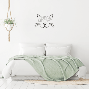 Check Meowt Wall Decal