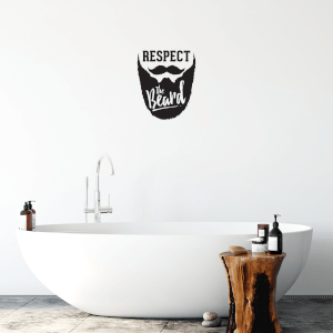 Respect The Beard Wall Art Vinyl