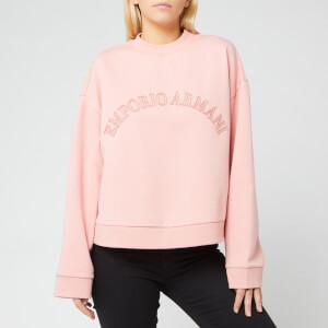 Emporio Armani Women's Loose Logo Sweater - Pink