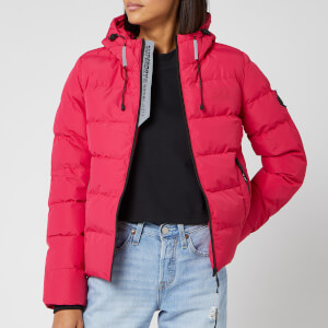 Superdry Women's Spirit Puffer Icon Jacket - Rose Red