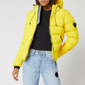 Superdry Women's Spirit Puffer Icon Jacket - Bright Yellow