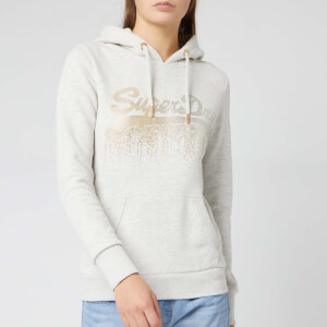 Superdry Women's Vlogo Metal Cascade Entry Hoody - Oatmeal Marl