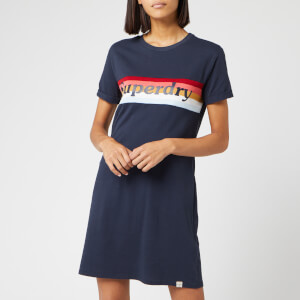 Superdry Women's Austin T-Shirt Dress - Deep Navy
