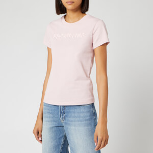 Helmut Lang Women's Raised Embroidered Standard T-Shirt - Pale Pink