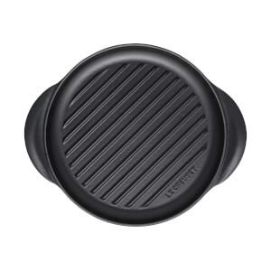 Le Creuset Signature Cast Iron Round Grill - 25cm - Satin Black