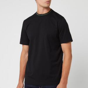 PS Paul Smith Men's Sport Stripe Jacquard Collar Detail T-Shirt - Black