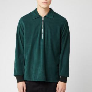 PS Paul Smith Men's LS Zip Front Fit Shirt - Green