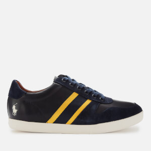Polo Ralph Lauren Men's Camilo II Leather/Suede Low Top Trainers - Newport Navy/Gold Bugle/Egret