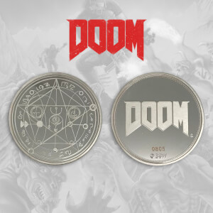 Bethesda's Doom Collector's Limited Edition Coin: Silver Variant