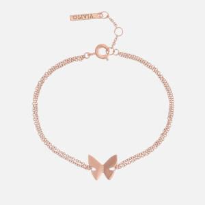 Olivia Burton Women's Social Butterfly Chain Bracelet - Rose Gold