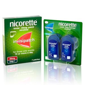 NICORETTE Quit Starter Bundle: InvisiPatch & Lozenge
