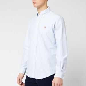 Polo Ralph Lauren Men's Slim Fit Bengal Stripe Oxford Shirt - Blue/White