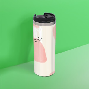 Blob And Scribble Pattern Stainless Steel Travel Mug