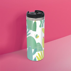 Cactus Pattern Stainless Steel Travel Mug