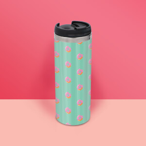 Doughnut Pattern Stainless Steel Travel Mug