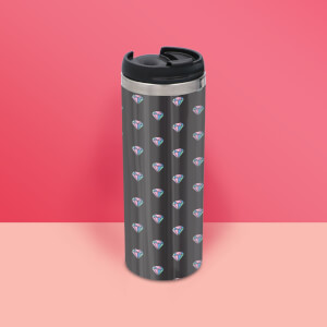 Diamond Pattern Stainless Steel Travel Mug