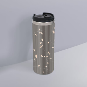 Quaint Floral Pattern Stainless Steel Travel Mug