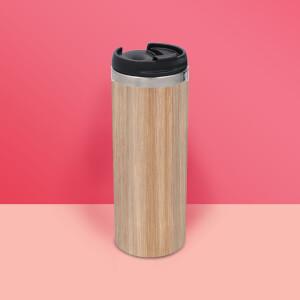 Bamboo Print Stainless Steel Travel Mug