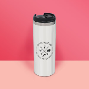 Never Mundane Always Adventurous Stainless Steel Travel Mug - Metallic Finish