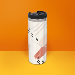 Arty Scribble Stainless Steel Travel Mug
